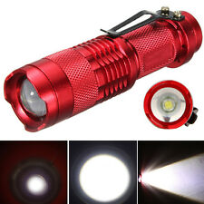 Mini Tactical 7W 1200lm CREE Q5 LED Zoomable Flashlight Torch 14500 Lamp Light