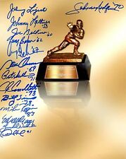 Heisman Trophy signed 8x10 photo autograph 14 multi-signed sig no Baker Mayfield