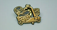 Mobility Scooter Gold Tone Vintage Lapel Pin