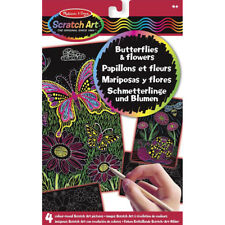 Melissa and Doug Scratch Art Butterflies and Flowers - Arts and Crafts for Kids