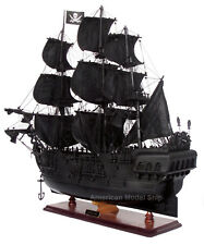 "Black Pearl Caribbean Pirate Tall Ship 27"" - Handcrafted Wooden Ship Model NEW"