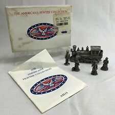 The Americana Pewter Collection Train Locomotive AH15 Miniature Figurines 1993
