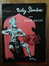 1952 S. Hurok Presents Uday Shankar Hindu Ballet Program Vintage Original India