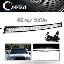 42inch Led Light Bar Curved 560W Offroad Roof Bumper Driving for Dodge GMC Wires