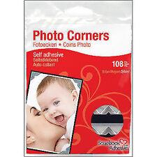 3L 01627-10 Paper Photo Corners Silver