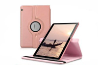 "360 Rotating Leather Case Cover For Huawei MediaPad T3 10 (9.6"") [ROSE GOLD]"