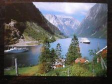 POSTCARD NORWAY NAEROYFJORDEN VED GUDVANGEN SOGN
