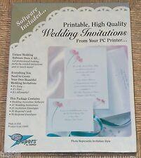 Ampad 25 High Quality Wedding Invitations w/ Envelopes, Respond Cards & Software