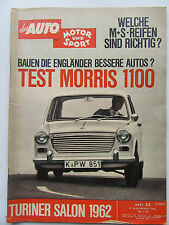 Auto Motor Sport 24/1962, Test Morris 1100, Turiner Salon 1962