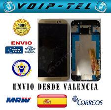 PANTALLA  CON MARCO COMPLETA LCD DISPLAY CON TACTIL HTC ONE M9 DORADO GOLD