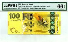 FIJI 100 DOLLARS ND 2013 RESERVE BANK GEM UNC PICK 119a LUCKY MONEY  VALUE $800