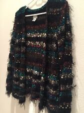 Chicos 1 Jacket Cardigan Multicolor Knitted Black Metalic Glitter Women