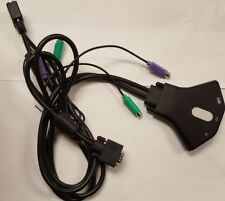 BELKIN 2-Port KVM Switch with Built-in Cabling VGA PS/2 F1DK102P