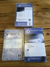 Franklin Covey Address Phone Tabs Classic Size Blank Pages Daily Noted Foliopad