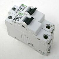 (Lot of 2) Klockner Moeller FAZN-C16 Circuit Breakers 16A 5kA 277VAC 1 Pole Used