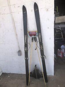 vintage snow skis - Complete Set