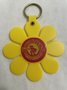 Vintage Cleveland Cavaliers logo keychain key chain ring 1970s yellow flower NBA