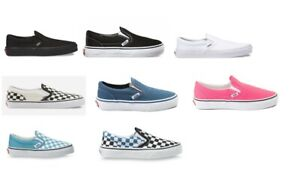 Vans kids slip on Black/Black Black White/ true white/CheckerBoard US youth size