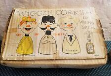 Vintage Wiggle Wine Whiskey Bottle Corks - Set Of 3