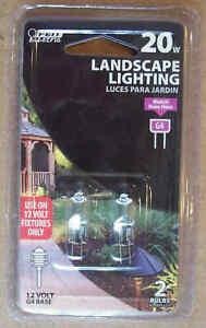 Feit 2 Pack Landscape Low Voltage 12V 20W Halogen T3 G4 Lamp Light-Save 2+