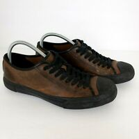Frye Mens Size 10 Brown Leather Lace Up Low Sneaker Shoes