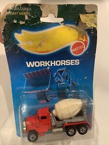 1988 Hot wheels Workhorses Peterbilt Cement Truck #1169