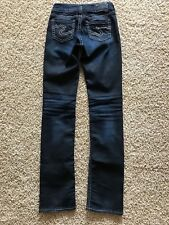 Women's Silver Jeans Suki Baby Boot Tag Size 26/33 Low Rise Boot Cut Dark