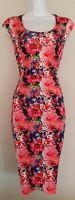 Womens Joe Browns Multicoloured Floral Ruched Sides Stretch Bodycon Dress 12.