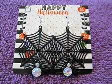 Black Spider Web With Spider Earrings