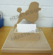 Poodle Business card holder 170mm high x 18mm thick/Dog Groomers/Desk Tidy