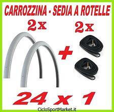2 x Copertone + 2 x Camera d'aria    24 x 1.0  - CARROZZINA / SEDIA A ROTELLE