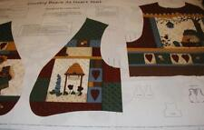 COUNTRY BEARS AT HEART BEES  ADULT VEST LESLIE BECK CRANSTON FABRIC PANEL SM-LG