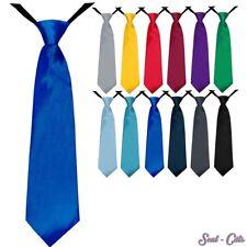 Kinder Krawatte 35 cm Jungen vorgebunden Seiden Look Hochzeit Kommunion