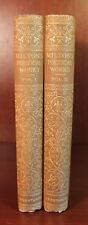 Milton's Poetical Works 2 Volume Set Poetry Poems Poet Paradise Lost Epic