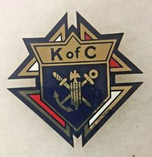 KNIGHTS OF COLUMBUS K OF C Double Face DECAL STICKER EMBLEM 303