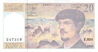 FRANCE 20 FRANCS 1991 - Free to Combine Low Shipping