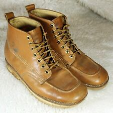 VTG Mens Boots Armortred Tan Leather Work Chukka Neoprene Sole Hipster Shoes USA