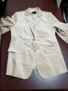 BANANA REPUBLIC Cream LONG AND LEAN-FIT BLAZER Lightweight Wool Modern 10
