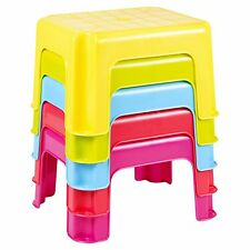 Sturdy Plastic Kids Child Children Home Bathroom Kitchen Step Stool Yellow  sc 1 st  eBay & Plastic Stools for Children | eBay islam-shia.org