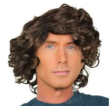 Men's Wavy Fancy Dress Brown Wig (Middle part) Movie, Disco, Boyband, Halloween