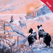 NEW  1000 pc Jigsaw Puzzle Border Collie Winter Scene Great Dog Lover Gift