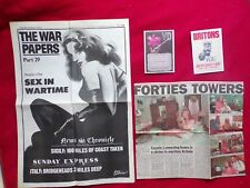 WORLD WAR 2  4-PAGE PAPER SEX IN WARTIME ETC reissue  + 2 POSTCARDS V.D + MORE