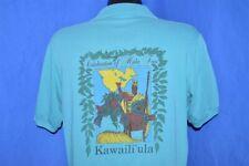 vintage 80s Kawaili'Ula Celebration Of Hula Hawaiian Hawaii 2 Sided Polo Shirt L