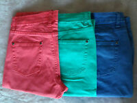 NEW WOMAN;S LADIES QUALITY COTTON CROPPED JEANS TROUSERS FROM ELLOS LA-REDOUTE