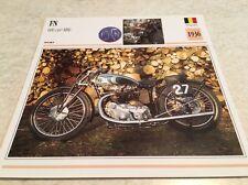 Carte moto FN 600 cm3 M86 1936 collection Atlas Motorcycle Belgique