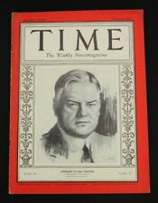 1928 Time Magazine March 26 Herbert Hoover