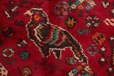 Tribal Nomad Geometrc Oriental Abadeh Area Rug Wool Red Hand-Knotted 7' x 10'
