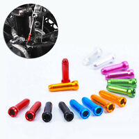 50x COLOURED BICYCLE BIKE BRAKE GEAR INNER CABLE/WIRE END CAP CRIMP MTB ROAD