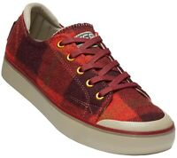 KEEN Wool Lace-Up Plaid Women's Sneakers - Elsa III Red Plaid Size 9 M