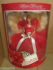 1988 Happy Holidays Barbie 1st Doll In Special Edition Series NEW Box Wears A1